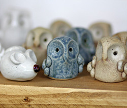 Owls and Mice Pottery