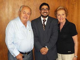 Herman and Miriam Tauber with Rabbi Yesh