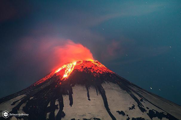 El volcán Villarrica