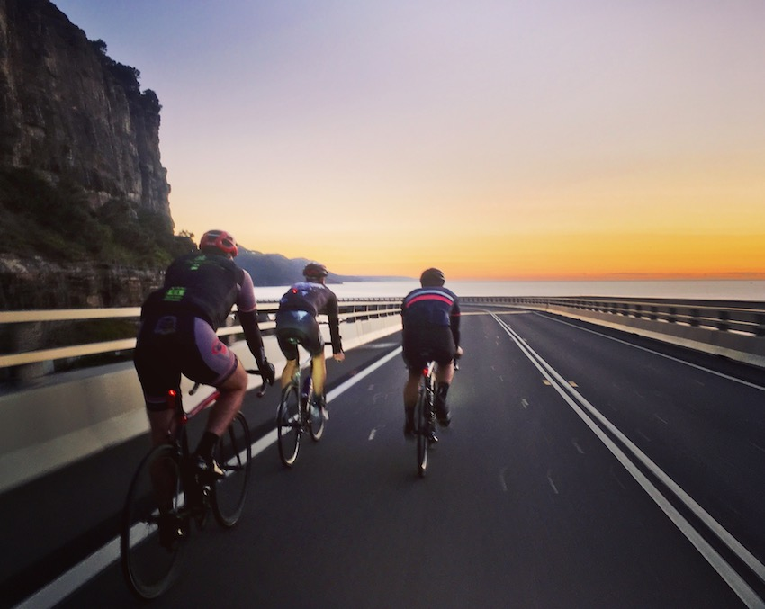 Sea Cliff bridge ride at dawn