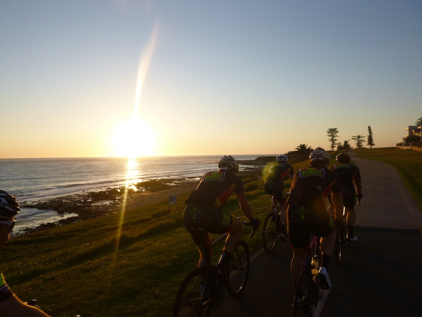 South Coast sunset bike ride