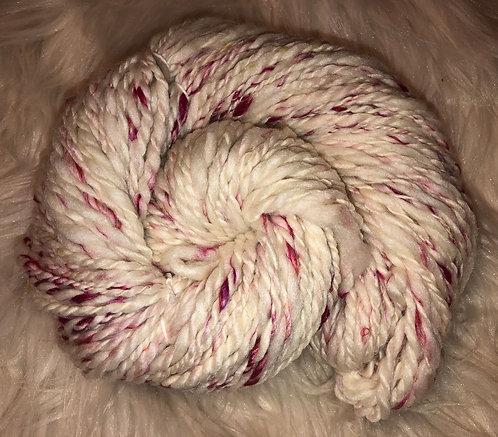 Merino Tussah and Sari Silk Bulky Handspun Yarn