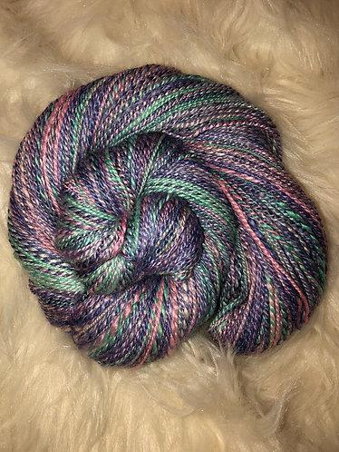 BFL/Tussah Silk 2-ply Handspun Yarn