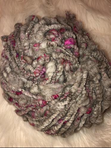 Enormous BFL Sari Silk Bulky Coiled Handspun Yarn