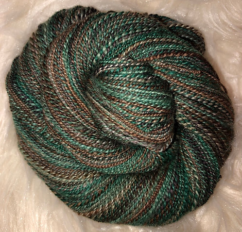Superwash Merino Bamboo and Nylon 2-ply Handspun Yarn