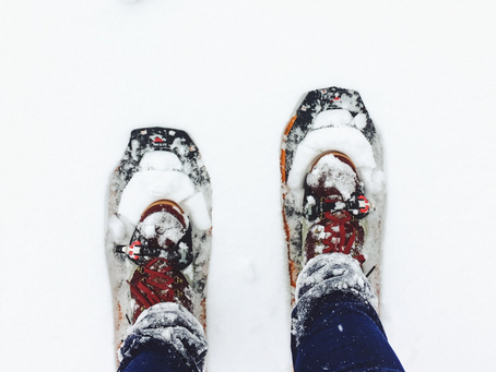 Looking for a great winter workout? Try snowshoeing!