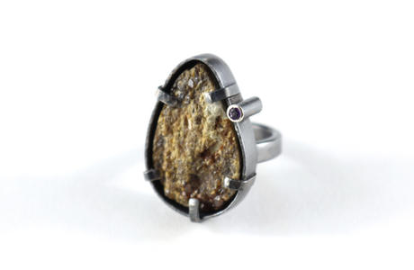 Quartz and Amethyst Ring