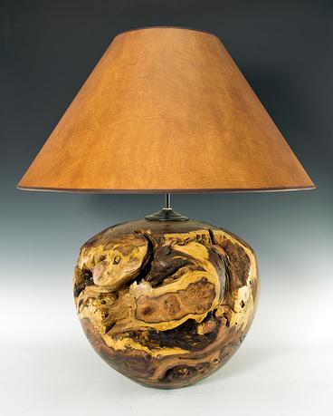 Acacia Burl Lamp