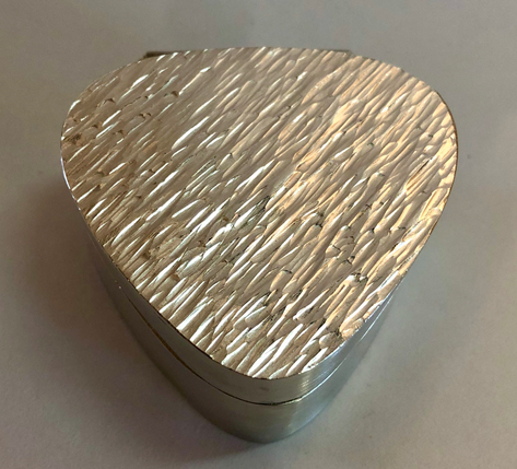 Sterling silver Hinged Box With Hammer Textured Lid