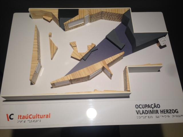 maquete da exposição