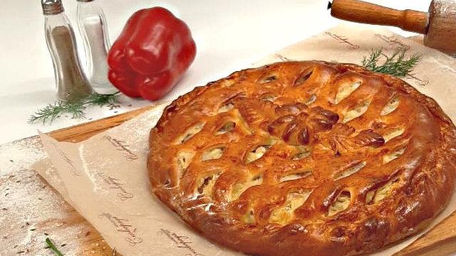 Пирог с лососем, 1кг
