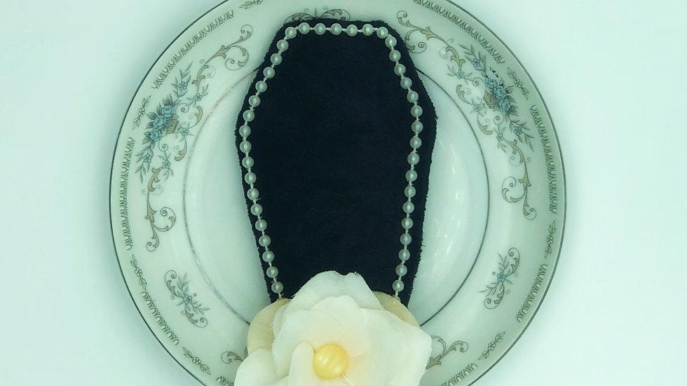 Black Velvet Coffin Comb