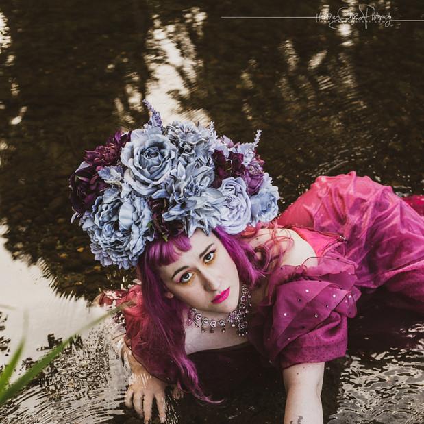 Purple Bloom Headpiece