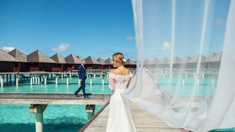 One fine day for a wedding shoot