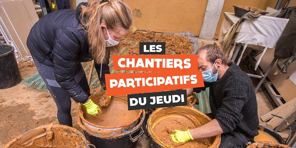 Chantiers Participatifs : enduits terre crue