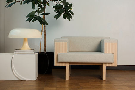 Bruto armchair designed by Felizia Matthews, upholstery by Elsa Torell Nordgren and Cabinet making by Victor af Wetterstedt