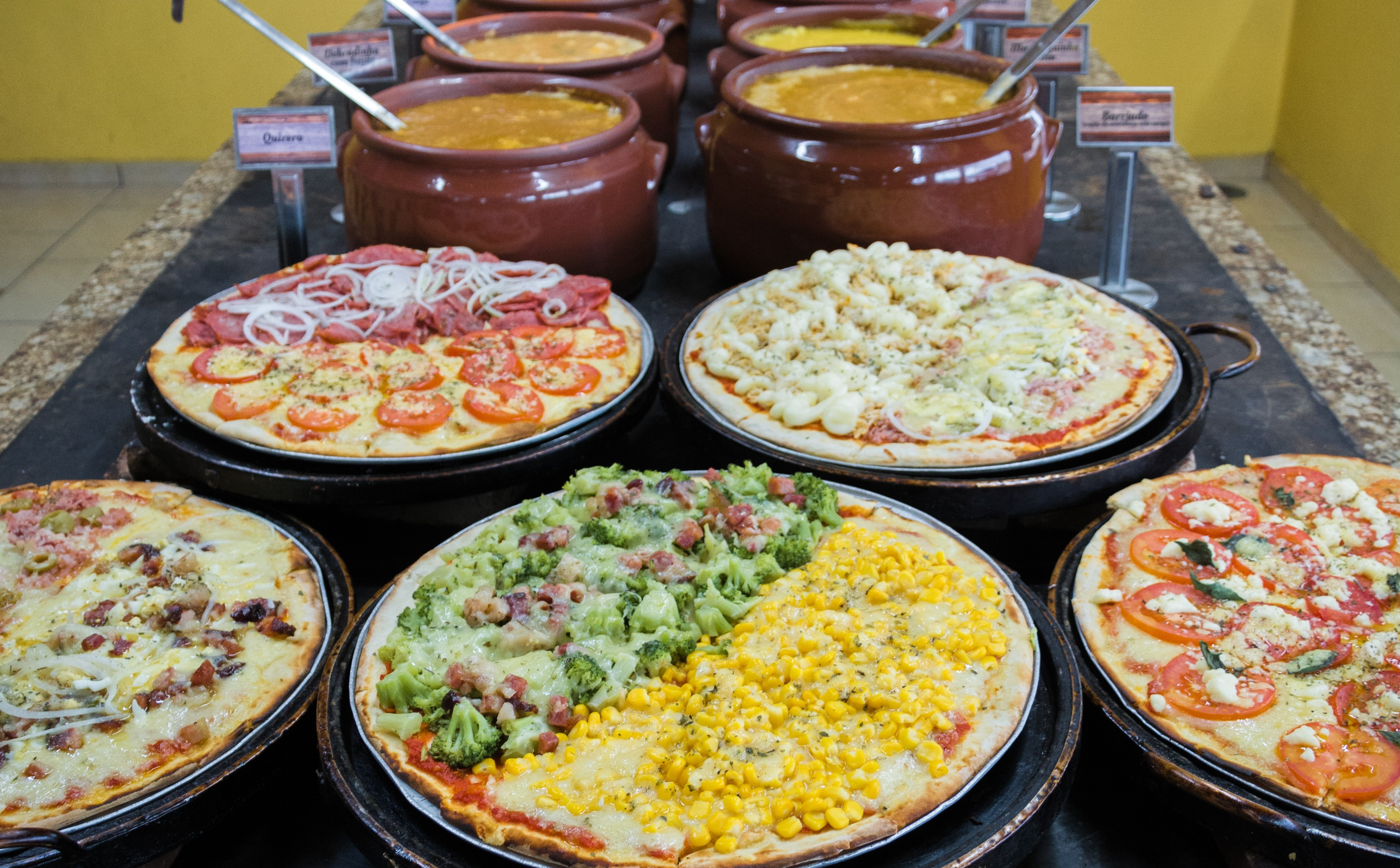 caldinho + pizza