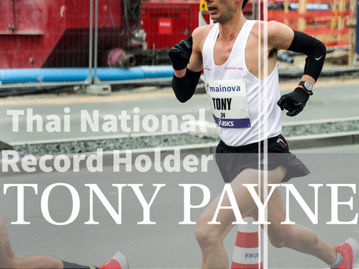 Blog 38- An interview with recent Thai National record holder Tony Payne from Sunday's Frankfurt mar