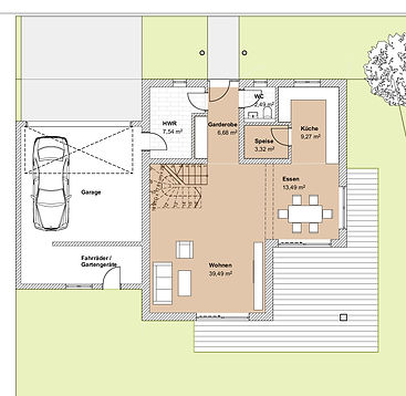 ProfESbau GmbH | Grundriss Einfamilienhaus