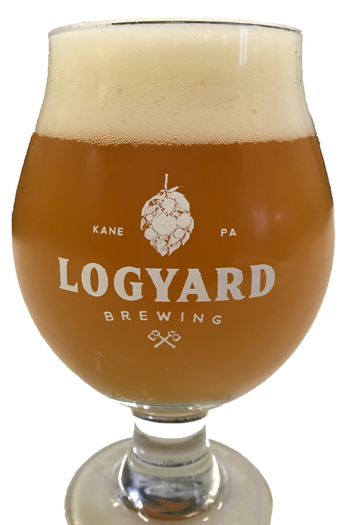 13 oz. Belgian Logo Glass