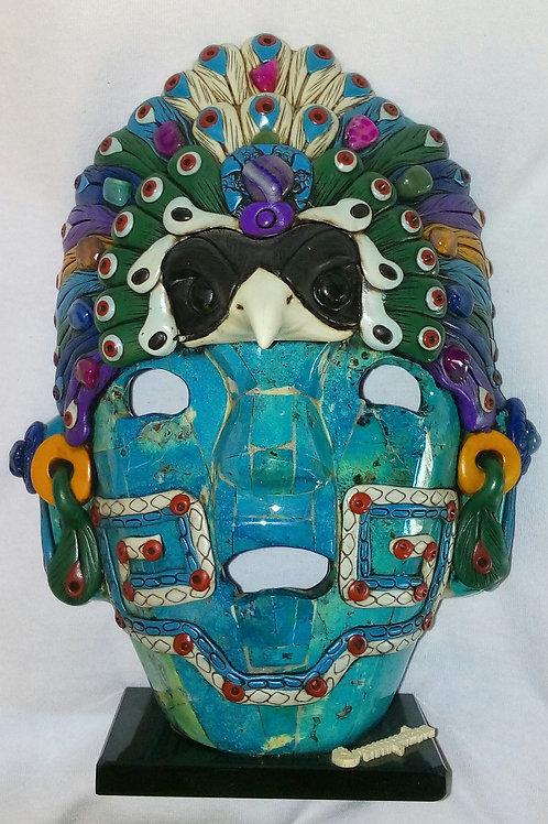 Mascara de guerrero maya