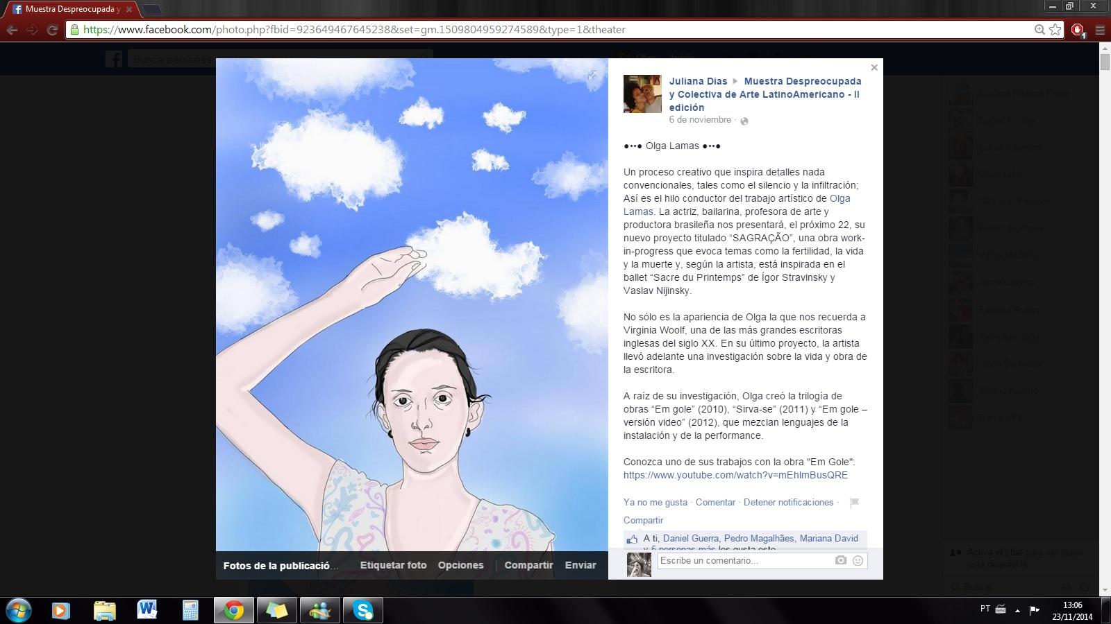 2014_Sagração_Performance_en_la_Muestra_Despreocupada_Nota_en_Facebook