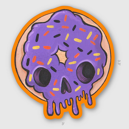 Skully Donut sticker