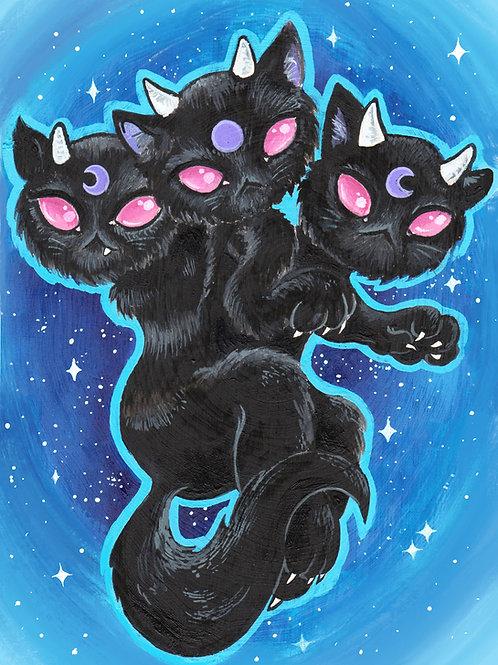 Cerberus Cat print 5x7