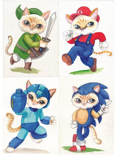 Classic Gaming Kitties