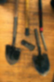 Bamboo removal broken shovels.jpg