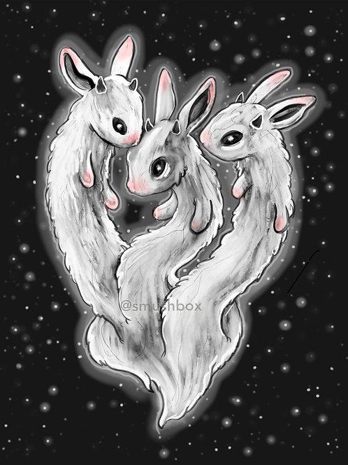 Bunny Hydra print 5x7