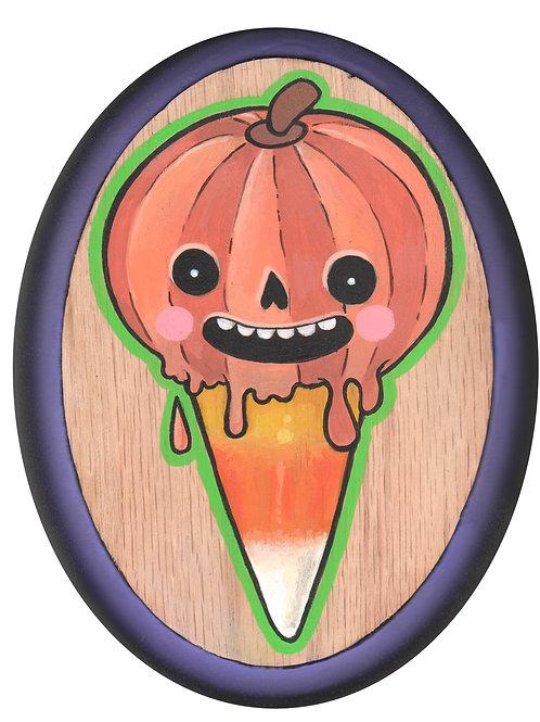 Pumpkin Spice Candy Cone