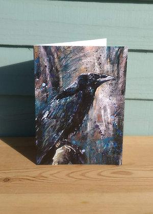 Crow Greetings Card
