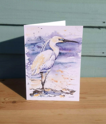 Little Egret Greetings Card