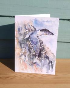 Seagull and Cliffs. Naomi Neale Art. Bri