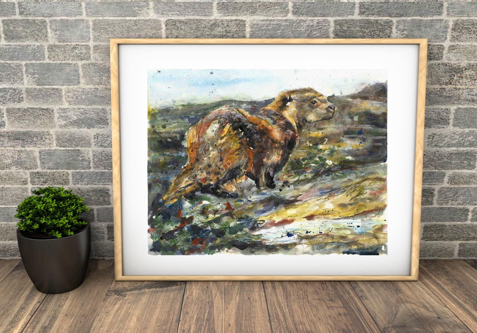 otter watercolour. British painting. Naomi Neale Art.png