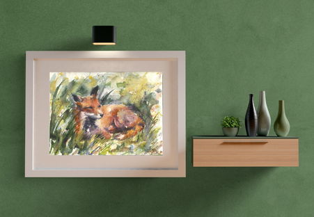 fox grass watercolour painting. Naomi Neale Art 2.png
