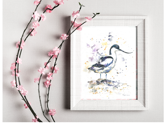 avocet small print. Naomi Neale Art. Bird paintingpng