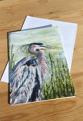 Handsome Heron Greetings Card
