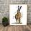 Thumbnail: Tense Hare Fine Art Print