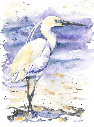 Little Egret Original Watercolour