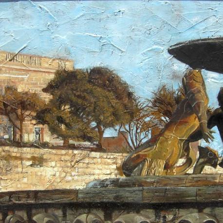 Triton Fountain - oils, 2008.jpg