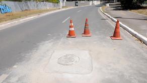 [Agora é Lei] Nivelamento de tampões de bueiros em vias públicas.