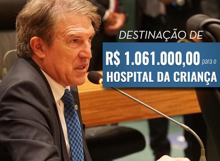 R$ 1 MILHÃO: Deputado Agaciel Maia destina recursos para o Hospital da Criança