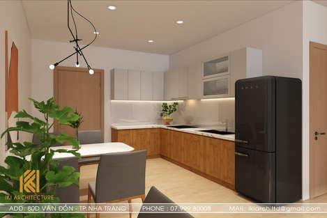Thiết kế phòng bếp căn hộ MTVT Nha Trang 65m2 - IKI200014