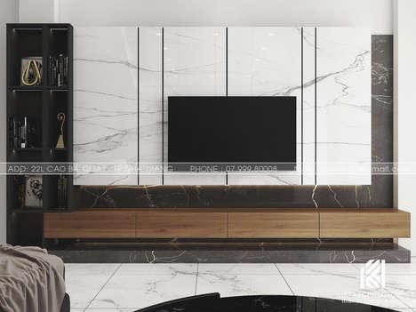 Thiết kế phòng khách nhà phố Nha Trang 150m2 - IKI200028
