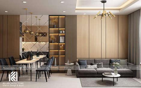 Thiết kế phòng khách căn hộ PH Nha Trang - IKI200046