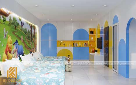 Thiết kế phòng ngủ trẻ em nhà phố Nha Trang 200m2 - IKI200000