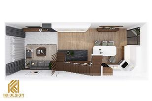 Thiết kế nội thất nhà phố Nha Trang 270m2 - IKI200045