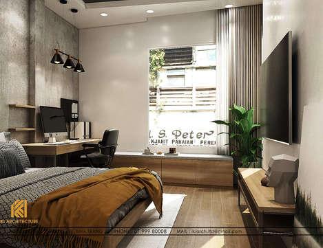 Thiết kế phòng ngủ trẻ em nhà phố chợ Đầm Nha Trang 120m2 - IKI200017